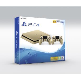 Console Sony PS4 500 Go Or 2eme manette PS4 Dual Shock 4 Or - Code Promo Priceminister : 15€ offerts dès 300€ d'achat sur les produits High-Tech