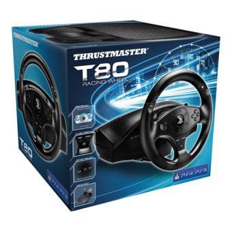 volant thrustmaster t80 ps3 ps4 accessoire console de jeux achat prix fnac. Black Bedroom Furniture Sets. Home Design Ideas