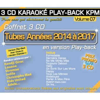 play back kpm coffret volume 7 tubes ann es 2014 2017 kendji girac louane cd album. Black Bedroom Furniture Sets. Home Design Ideas