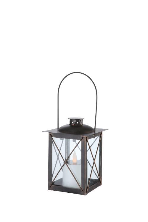 Lampe solaire LED Lanterne Globo 1xLED 0,06 W 1xNi-Mh AA 600 mAh H335 mm Noir et Or