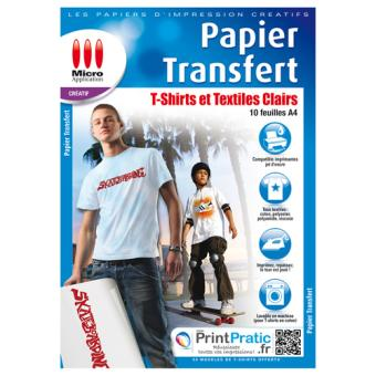 Micro application transfert pour textiles clairs - Papier transfert pour textile ...