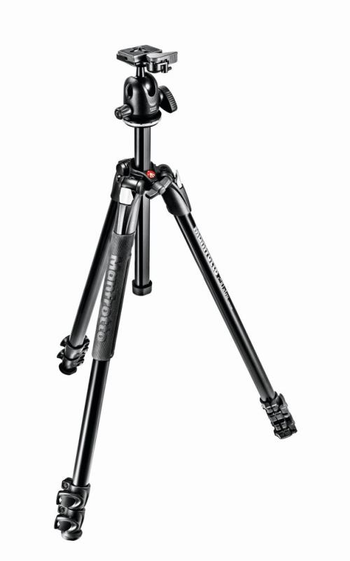 Kit Manfrotto Trépied 290 Xtra Alu + Rotule 496RC2