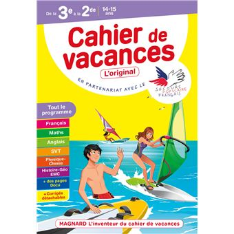 cahier de vacances anglais 3eme