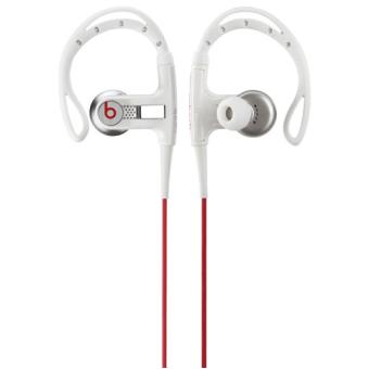 ecouteurs beats by dre powerbeats white casque audio. Black Bedroom Furniture Sets. Home Design Ideas