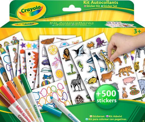 Kit de coloriage et autocollant