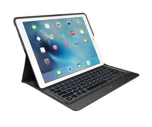 3ef3d9d636 Étui Folio Clavier Logitech Noir pour iPad Pro Éui clavier rétroéclairé  doté de Smart Connector pour iPad Pro ; Modes de saisie et de visionnage ;  accà¨s ...
