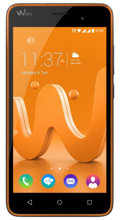 Smartphone Wiko Jerry 8 Go Double SIM Orange/Asphalte