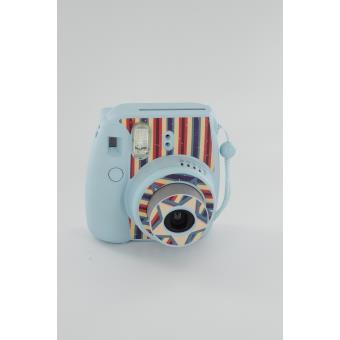 stickers fujifilm bleu pour instax mini 8 accessoire photo acheter bons plans. Black Bedroom Furniture Sets. Home Design Ideas