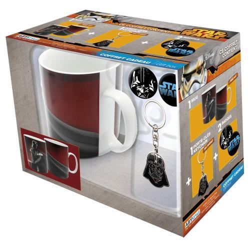 Coffret cadeau Star Wars Mug Porte cles et Badge a w