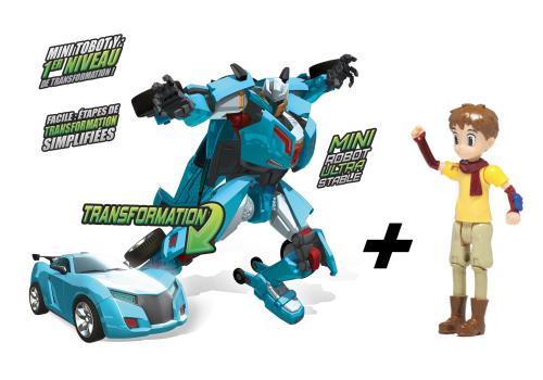 Contient un Mini Tobot Y et 1 figurine Kory, héro de la série TOBOT. Dès 4 ans.