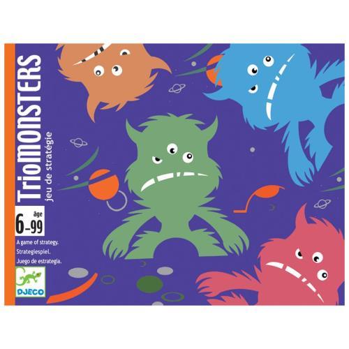 Jeu de cartes Djeco en petit format idéal pour le voyage Des monstres en pagaille à regrouper par couleur pour pouvoir les attraper. Pas aussi facile qu´il n´y parait... Un jeu de stratégie monstrueusement drôle !