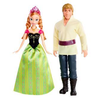 pack duo poupes anna et kristoff frozen la reine des neiges princesses disney