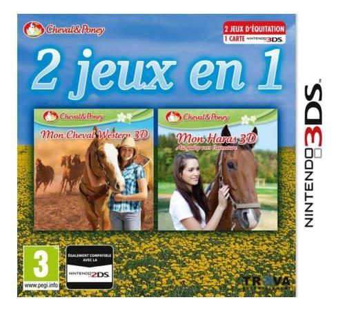 2 jeux en 1 Mon cheval Western 3D + Mon Haras 3D 3DS - Nintendo 3DS