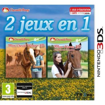 2 jeux en 1 mon cheval western 3d mon haras 3d 3ds sur nintendo 3ds jeux vid o achat. Black Bedroom Furniture Sets. Home Design Ideas