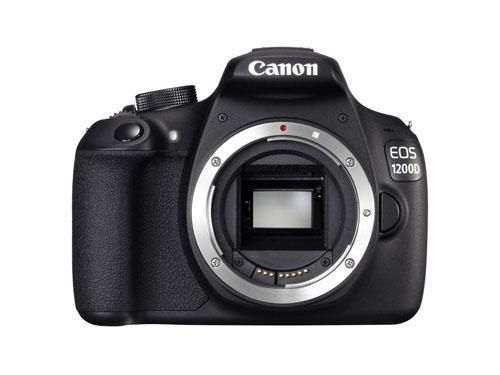Reflex Canon EOS 1200D à capteur CMOS 18 Mpx. Monture d´objectif EF/EF-S. Ecran LCD 3 460000 points.