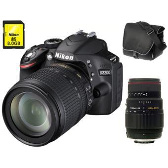 Reflex Nikon D Noir  mm f AF S DX VR ED serie G Sigma DG APO Macro Fourre tout Carte SDHC Go a