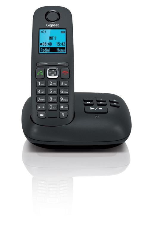 Téléphone sans fil Gigaset A540A Solo, Noir