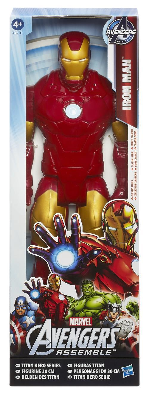 figurine avengers iron man titan hero hasbro 30 cm autres figurines et r pliques. Black Bedroom Furniture Sets. Home Design Ideas