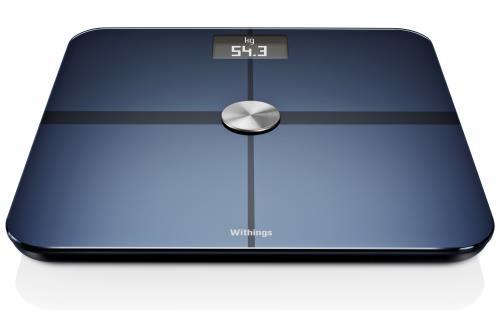 Pèse personne tout en un à analyse corporelle, Bluetooth et WiFi Mesure du poids et de la masse grasse via Position Control.