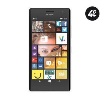 nokia lumia 735 4g white power pack t l phone mobile sans abonnement. Black Bedroom Furniture Sets. Home Design Ideas