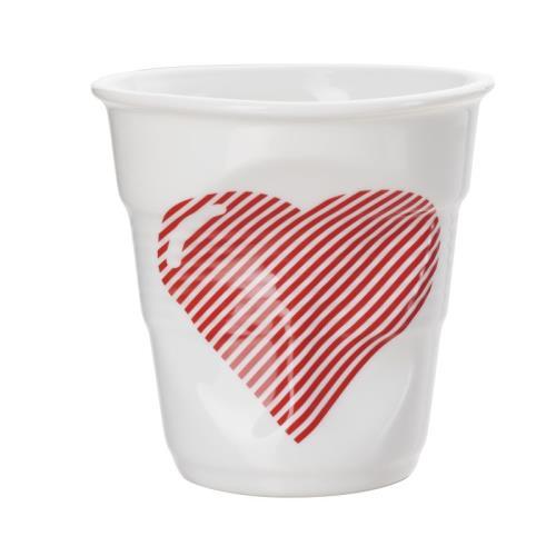 Image du produit Gobelet froissé Cappuccino Revol 18 cl Cur Blanc / Rouge