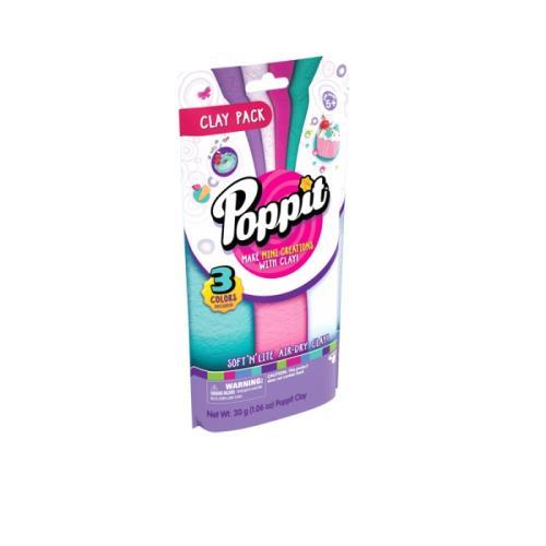 Des recharges de pâte Poppit pour encore plus de mini-créations ! Le + produit : Pâte légère, très facile à modeler, résultat net et précis, facile et rapide.