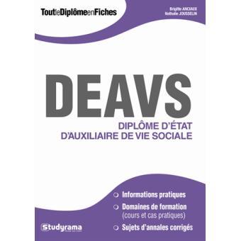 DEAVS Diplôme d'état Auxiliaire de Vie Sociale