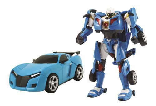 Insère le tockey dans la voiture pour activer la transformation en mode Tobot. Tobot Y évolution est la version supérieure de Tobot Y. Dès 4 ans.