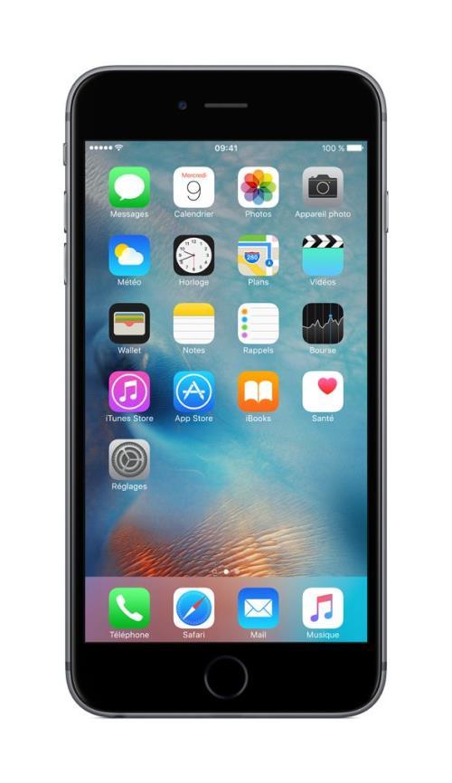 apple iphone 6s plus 64 go 5 5 39 39 gris sid ral smartphonespaschers. Black Bedroom Furniture Sets. Home Design Ideas