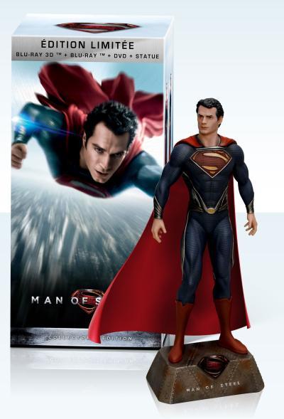 Man of Steel Coffret Edition Limitée Combo Blu-Ray 3D + 2D + Statue