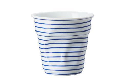 Image du produit Gobelet 18 cl Revol Froissés Cappuccino Marinière Bleu