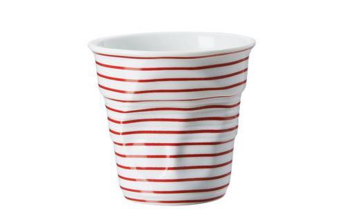 Image du produit Gobelet 18 cl Revol Froissés Cappuccino Marinière Rouge