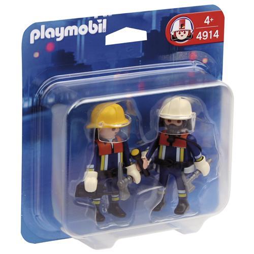 Deux personnages et leurs accessoires (casques et visières, talkie-walkie...). Deux personnages et leurs accessoires.