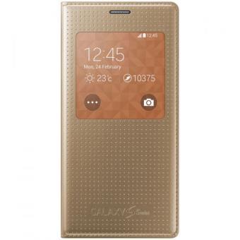 Etui Samsung S view pour Galaxy S5 Mini, Or Etui pour téléphone
