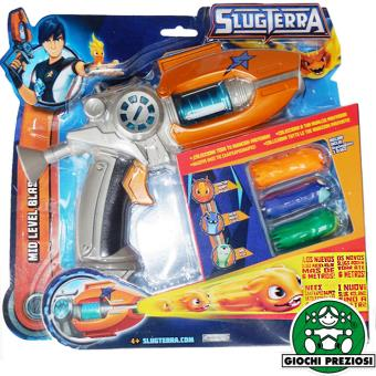 blister de pistolet deluxe slugterra avec 3 projectiles slugs