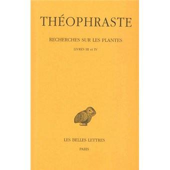 recherches sur les plantes tome 2 livres iii et iv