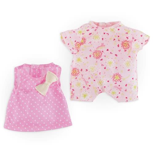 Mon Mini Dressing Rose est un coffret composé d´1 robe 3 trous et d´1 bloomer pour les mini poupons de 20 cm mon premier Corolle (ne convient pas aux minis bains avec palmes). Ces vêtements sont confectionnés dans des matières douces et résistantes, adapt