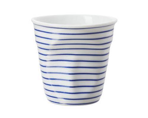 Image du produit Gobelet 8 cl Revol Froissés Espresso Marinière, Blanc / Bleu