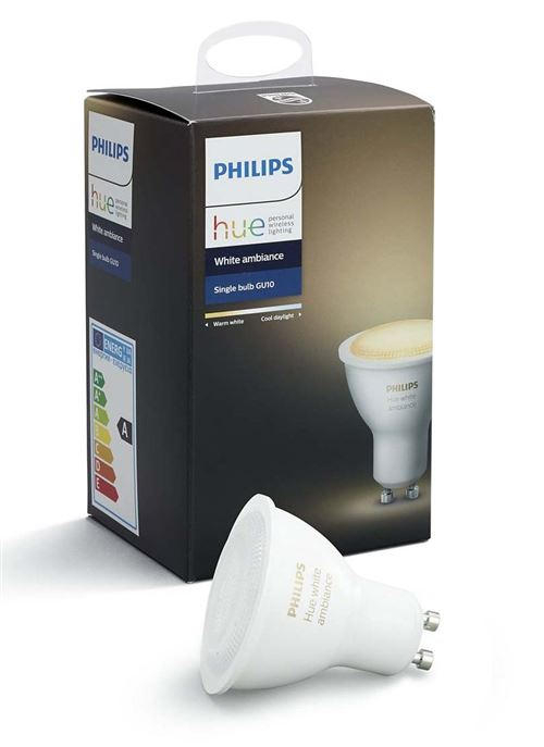 Ampoule Philips Hue White Ambiance Blanc chaud Blanc froid GU10 5,5 W pour 33€