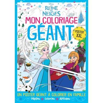 Frozen la reine des neiges mon coloriage g ant - Livre de coloriage disney ...