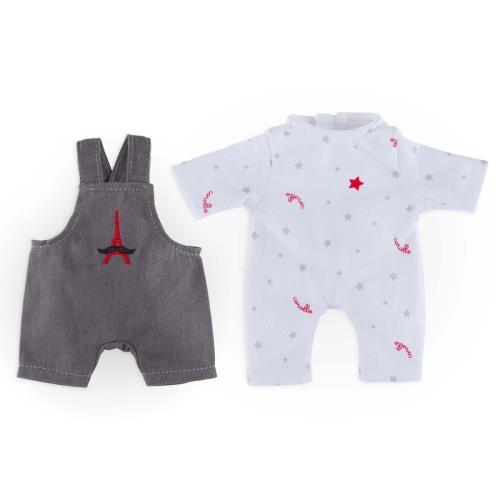 Mon Mini Dressing Petite Etoile est un coffret composé d´1 pyjama et d´1 salopette pour les mini poupons de 20 cm mon premier Corolle (exceptés les minis bains avec palmes). Ils sont confectionnés dans des matières douces et résistantes, adapté es à la de