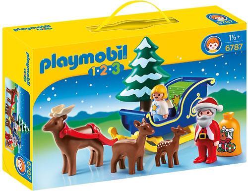 Pai natal com rena e tren playmobil 1 2 3 6787 for Casa playmobil 123
