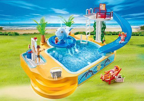 Piscina infantil com fonte da baleia summer fun 5433 for Piscine playmobil 5433