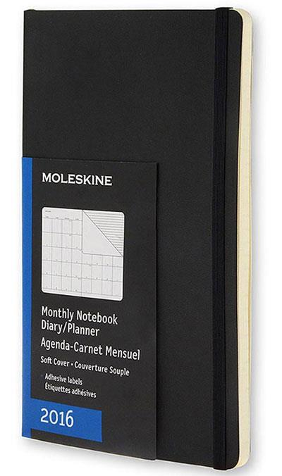 Moleskine agenda mensal soft bolso 2016 compre livros for Agenda moleskine 2016 2017