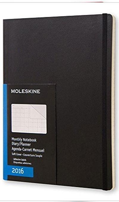 Moleskine agenda mensal soft xl 2016 compre livros na for Agenda moleskine 2016 2017
