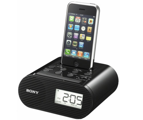 Sony r dio rel gio icf c05ipb p ipod iphone 3gs r dio for Kit casa icf