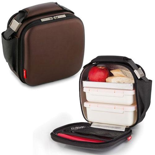 Bolsa Feminina Com Compartimento Para Marmita : Valira marmita nomad satin castanho escuro transporte