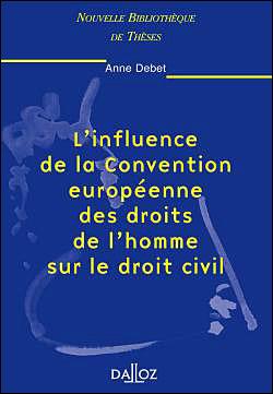 Influence de la Convention européenne droits de l´homme sur le droit civilv
