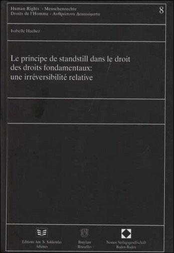 Principe de standstill dans le droit des droits fondamentaux