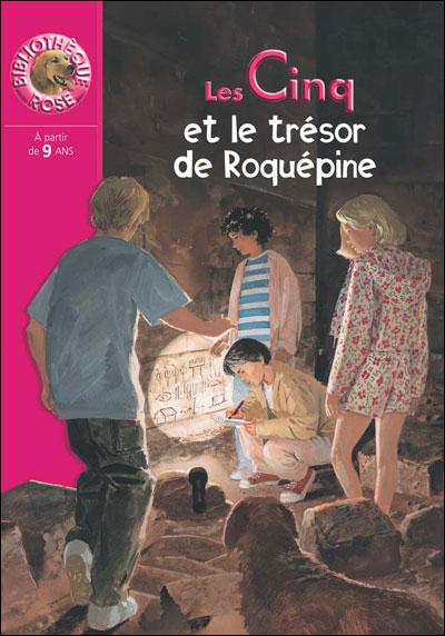 1e de couverture du Club des Cinq et le trésor de Roquépine
